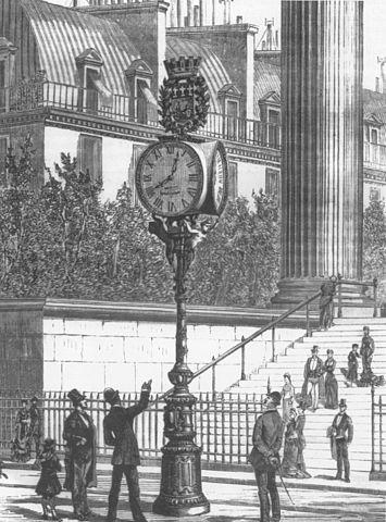 пневматические часы в Париже