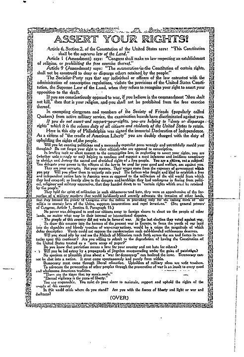 Листовка Чарльза Шенка, вторая сторонаhttps://commons.wikimedia.org/w/index.php?curid=52224498