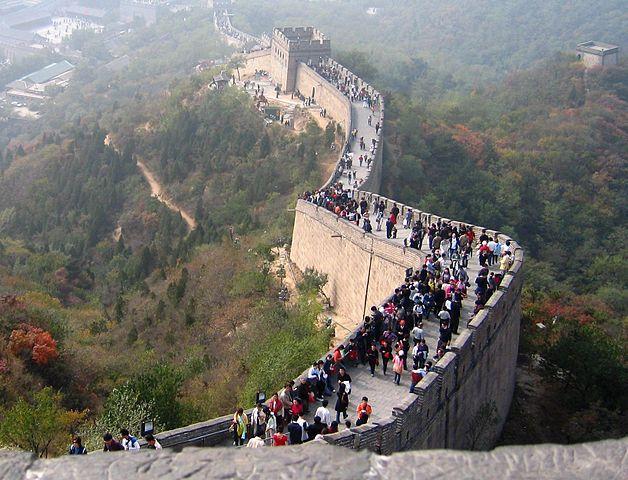 Великая китайская стена Источник https://commons.wikimedia.org/w/index.php?curid=3447180