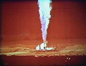 Газовый фонтан, кадр из документального фильма