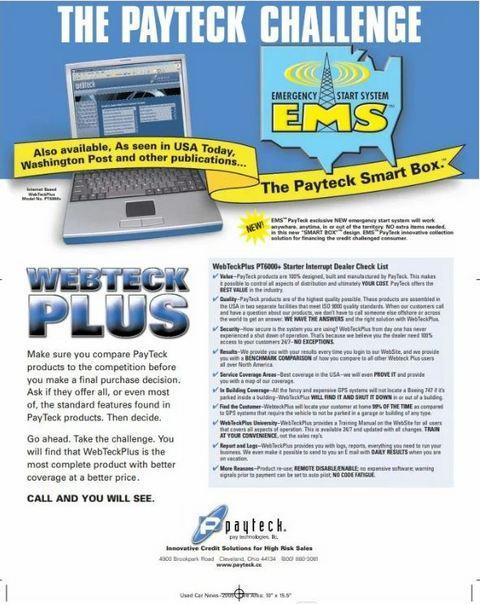 Рекламный материал Pay Technologies